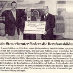 Spende des Steuerberaterverbandes